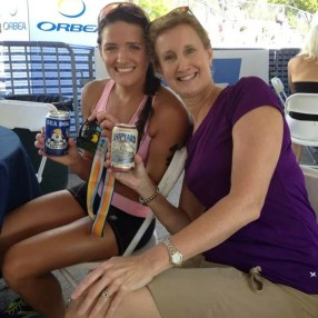 Post race libations with my Florida Host Mommy the amazing Lori Gagen